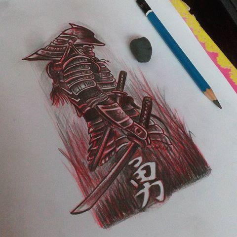 Drawn samurai japanese ninja Videos #tattoo Junior #japanese #anime