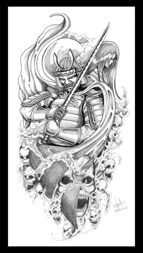 Drawn samurai japanese shogun Tattoo  Samurai Japanese Japanese