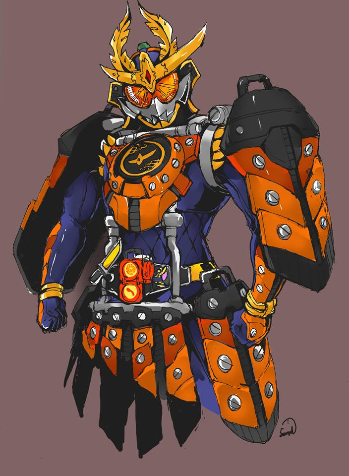 Drawn samurai kamen rider ARMS! Kamen DeviantArt Riders Kamen