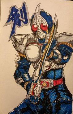 Drawn samurai kamen rider Kamen Kamen by Black Kamen