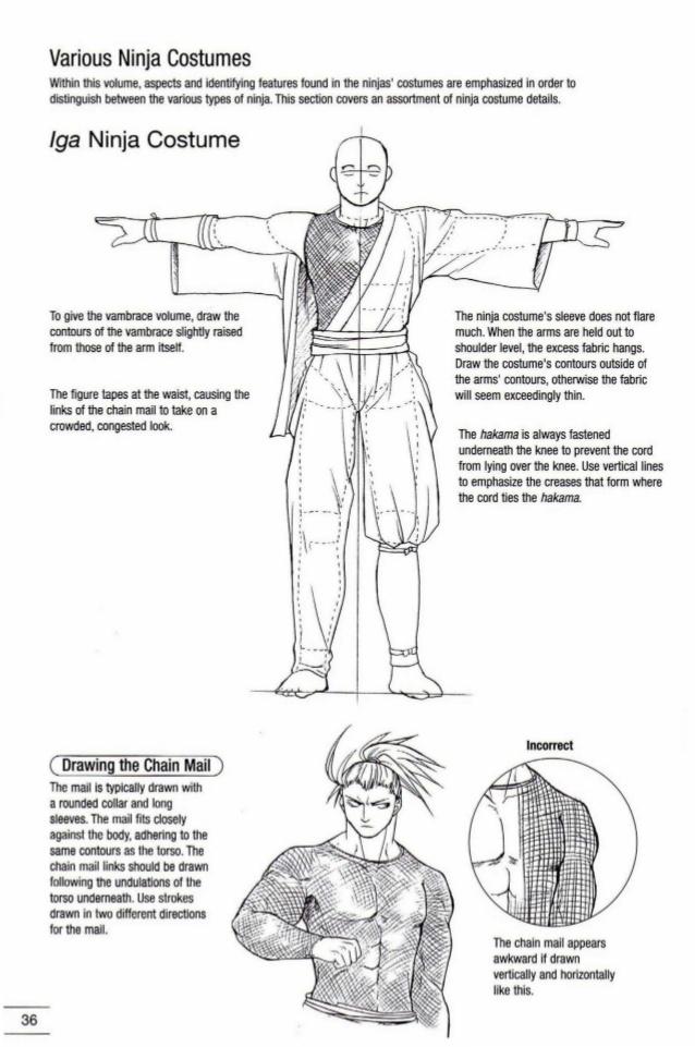 Drawn samurai knee Samurai manga ninja to draw