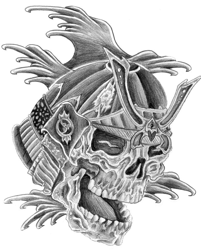 Drawn samurai knee Men skull Search  designs