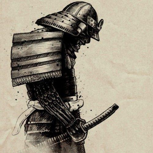 Drawn samurai knee Samurai samurai best imagem para