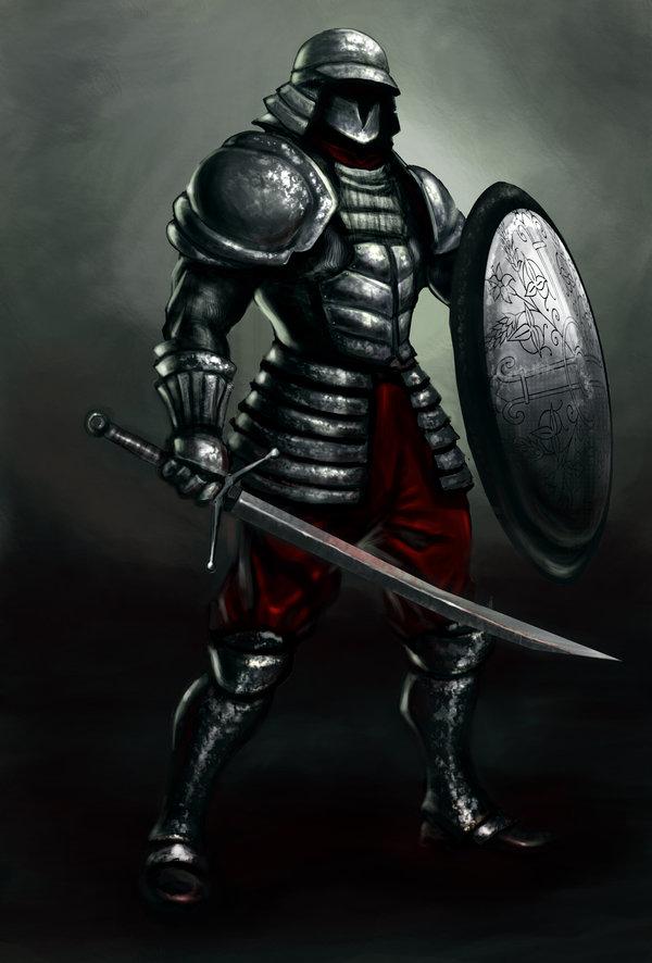 Drawn samurai knight Overdrivezero GleamingScythe Salvatican Samurai DeviantArt