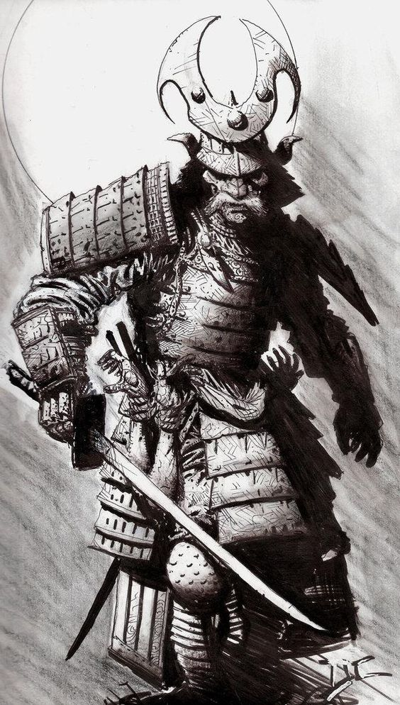 Drawn samurai knight Google SAMURAI tattoo  Pinterest
