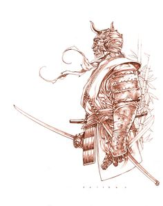 Drawn samurai knight Google Samurai Samurai samurai Printing