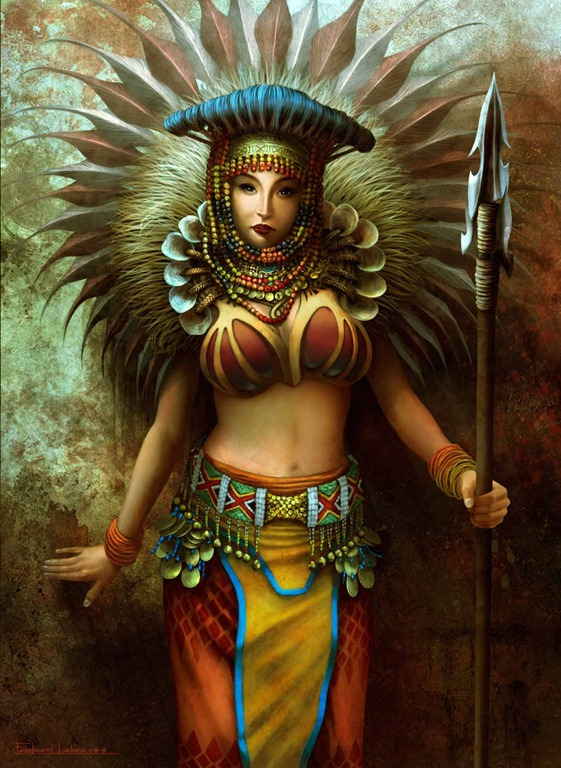 Drawn samurai mayan woman Female urduja Pinterest urduja warriors