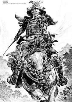 Drawn samurai mayan woman By Baron Drawings and Samurai