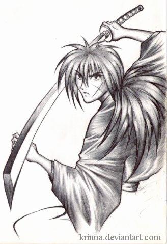 Drawn samurai old Kenshin by (old on Krinna