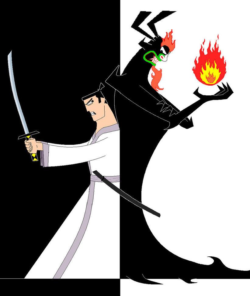 Drawn samurai old From