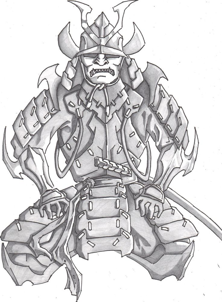 Drawn samurai pencil Google Best Pinterest Samurai on