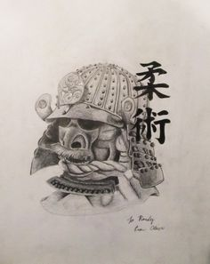 Drawn samurai pencil Tattoos Done by by Wassef