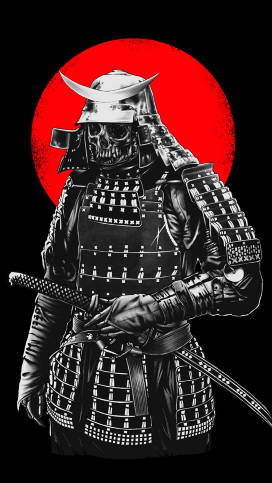 Drawn samurai phone wallpaper Skeleton iPhone ID: Samurai 55592