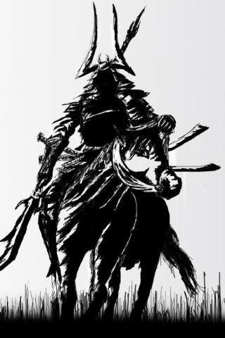 Drawn samurai phone wallpaper Sketch iPhone iPhone Bushido