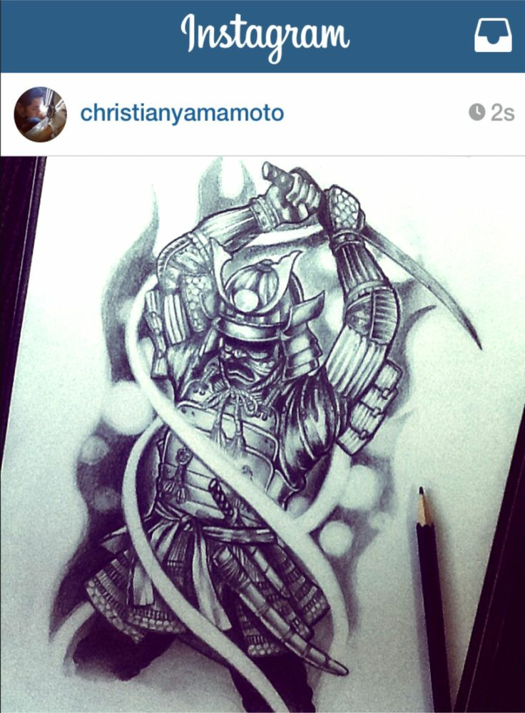 Drawn samurai pinterest #art Pinterest #tattoo #samurai on