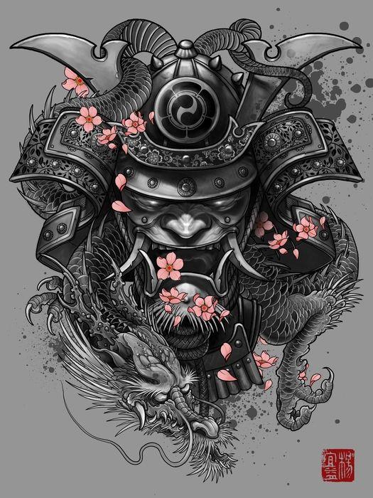 Drawn samurai pinterest Print art Art by Samurai