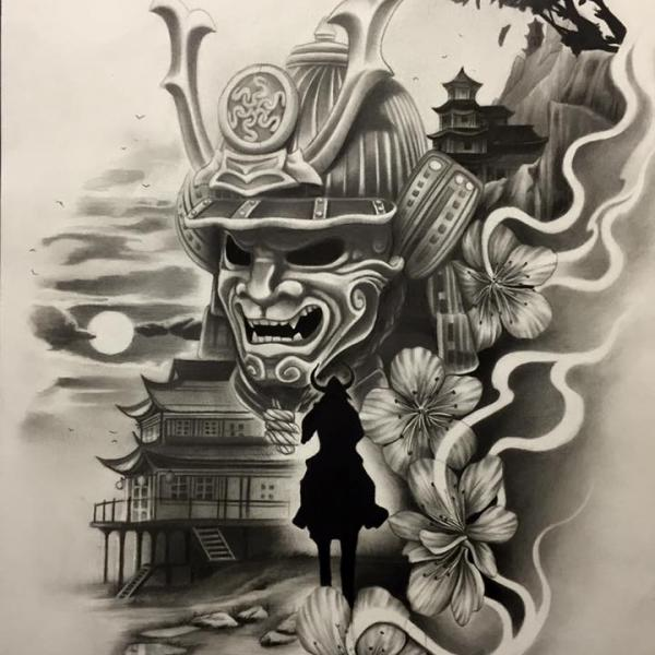 Drawn samurai realistic Japan Art art Japan Japan