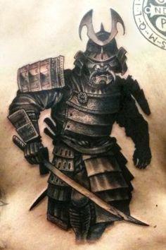 Drawn samurai realistic Intense samurai tatoo #TattooModels tattoo