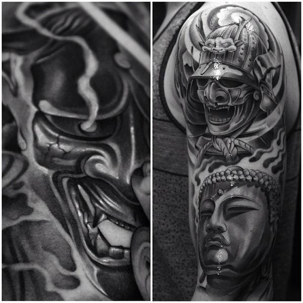 Drawn samurai realistic Samurai #tattoo #TattooModels Samurai Buddha