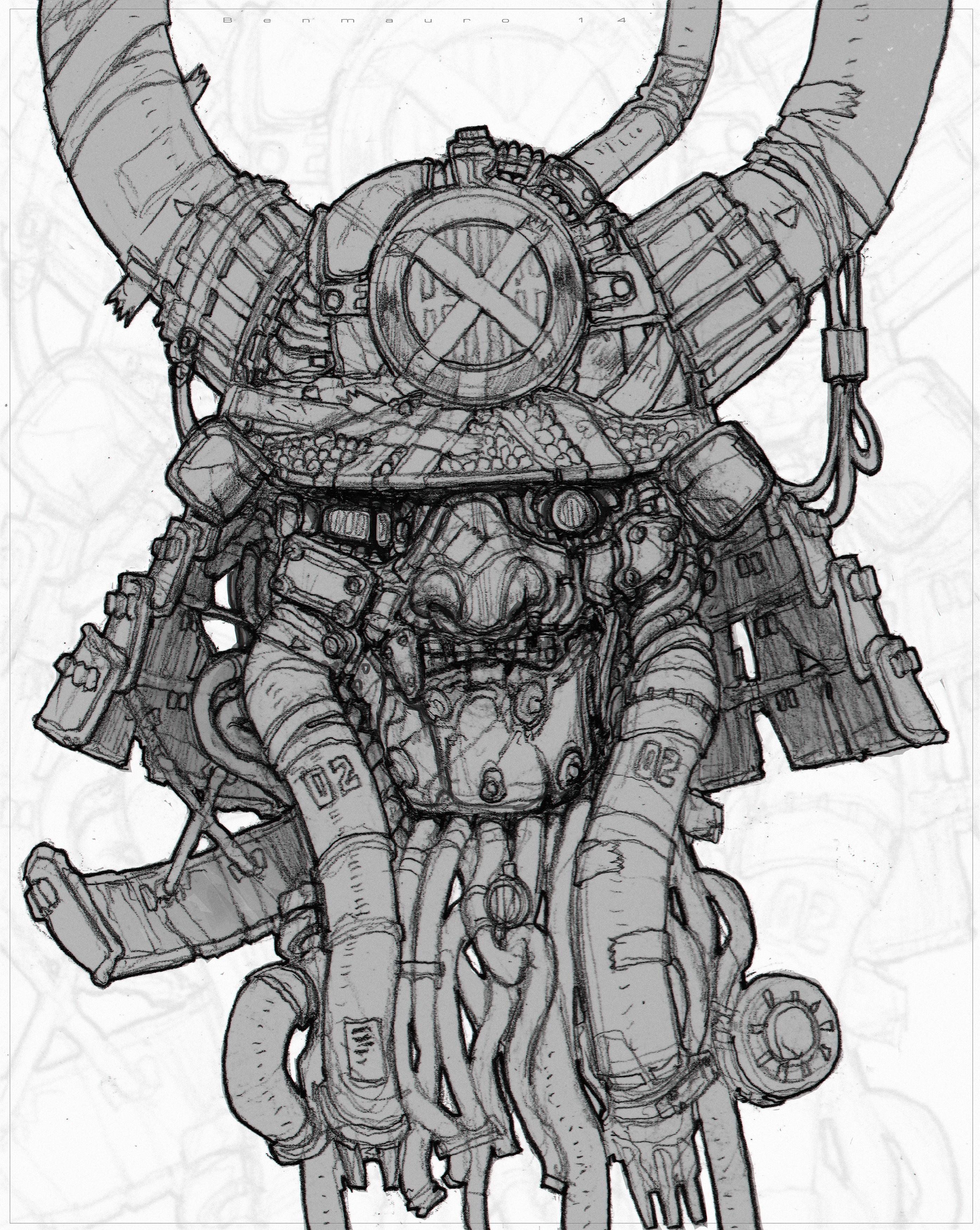 Drawn samurai robot samurai On Samurai Junk @DeviantArt