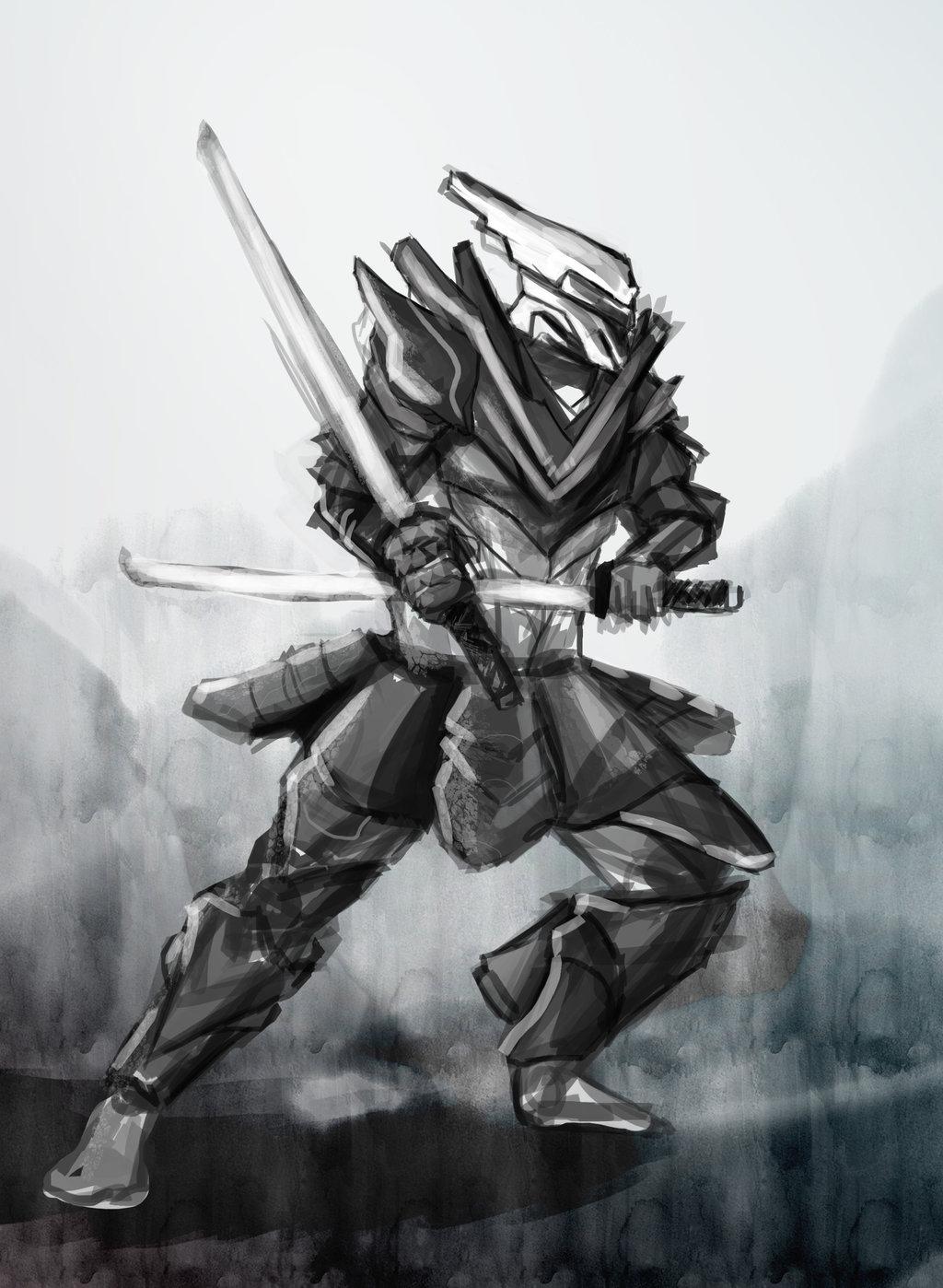 Drawn samurai robot samurai NihoAme Samurai on NihoAme Samurai