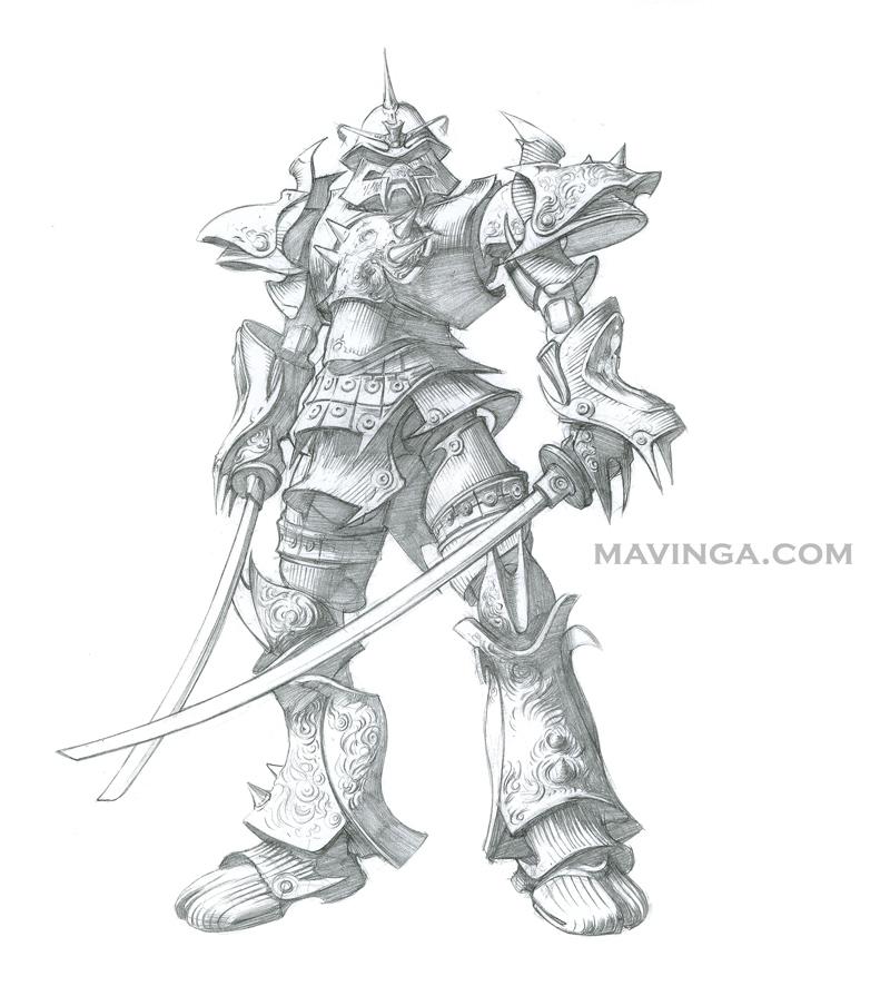 Drawn samurai robot samurai By DeviantArt mavinga by Concept