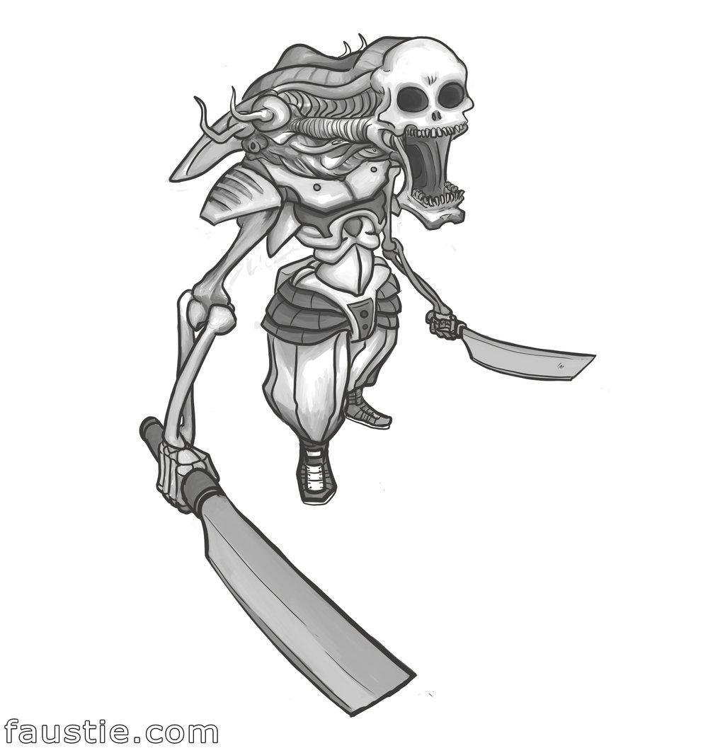 Drawn samurai robot samurai By Zombie by on faustie