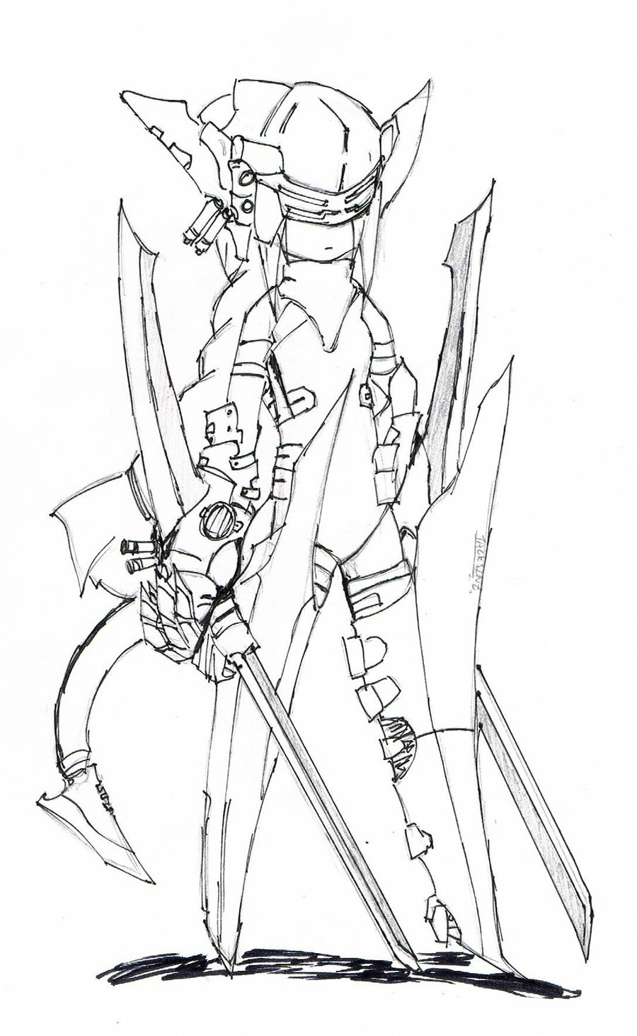 Drawn samurai robot samurai By Robot by on JackSinz
