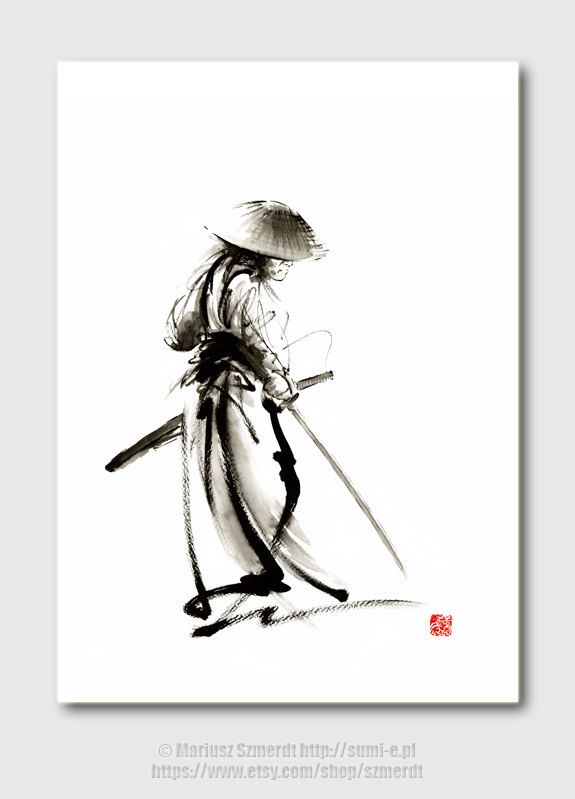 Drawn samurai ronin samurai Pinterest on art SamuraiArt $35