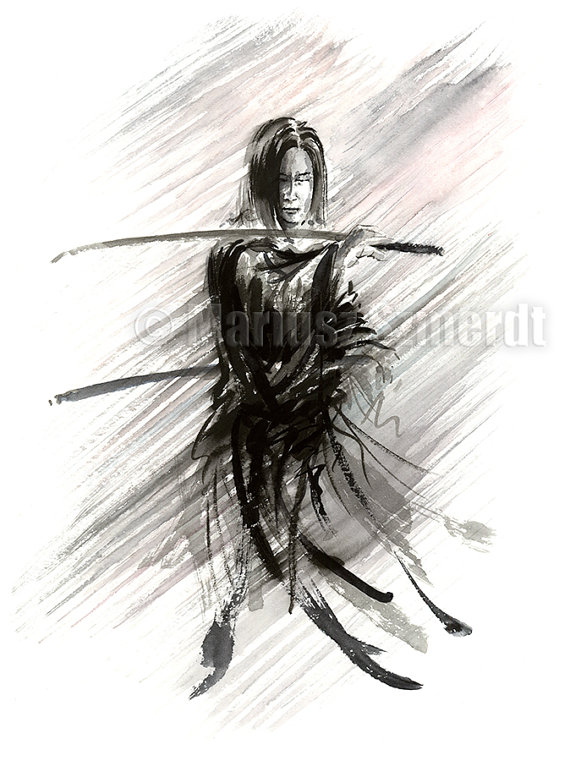 Drawn samurai ronin samurai Samurai item? Katana Ink this