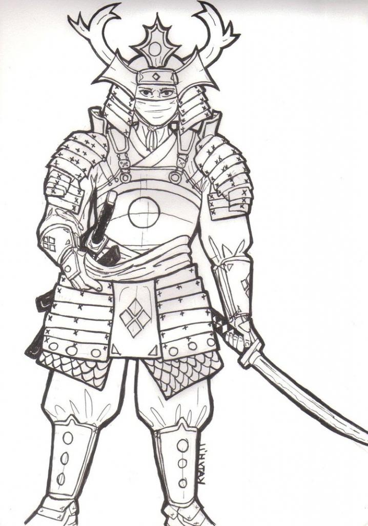 Drawn samurai samurai armor Armor Samurai Drawing Samurai On