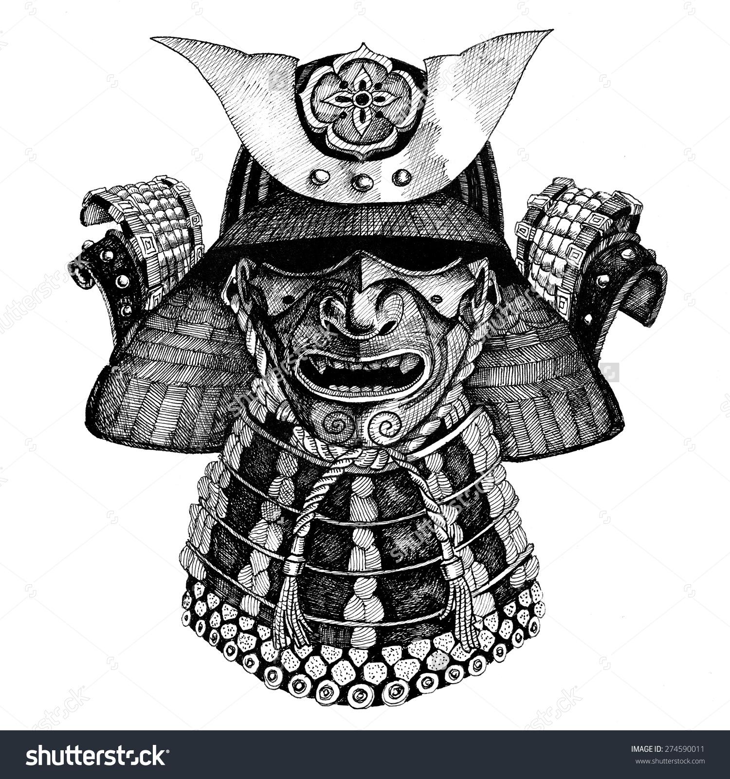 Drawn samurai samurai armor Google samurai Pesquisa Samurai Pinterest