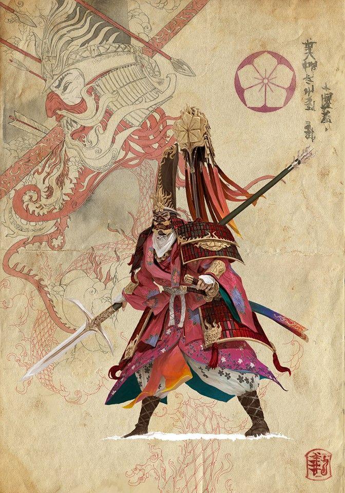 Drawn samurai samurai art Art Pinterest More Samurai @