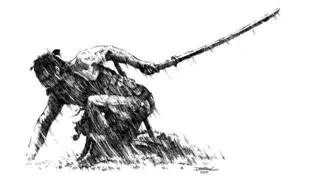 "Drawn samurai samurai art Shakespeare"" Artwork on"