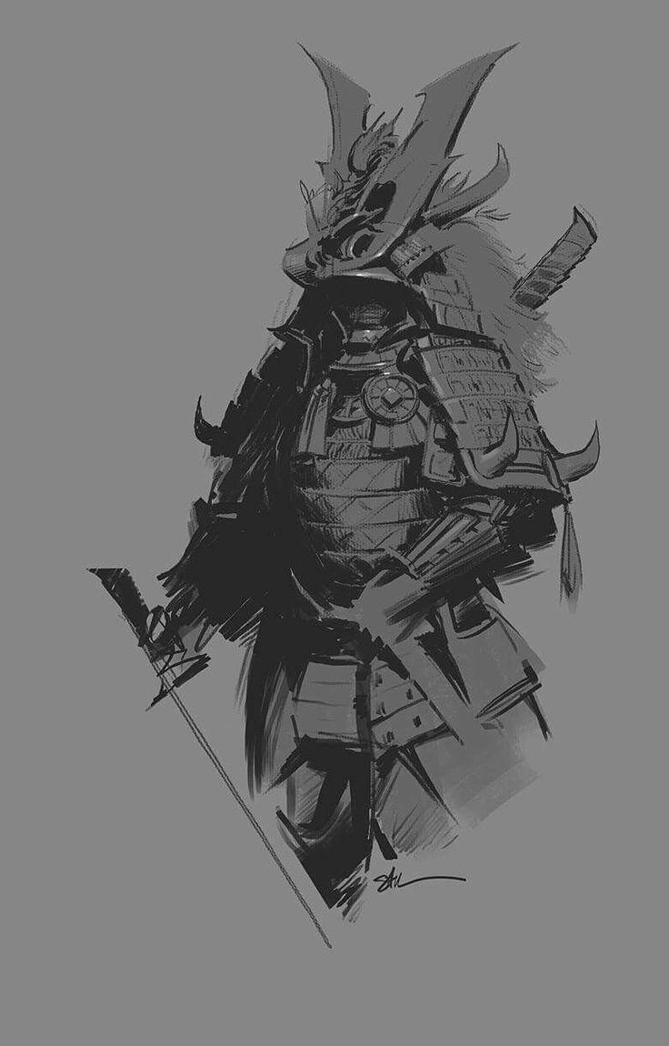 Drawn samurai samurai art 87 on images Katana Samurai