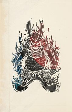 Drawn samurai samurai art Print art Samurai Pinterest Art