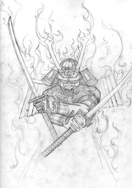 Drawn samurai samurai art Two than powerful more (artists)