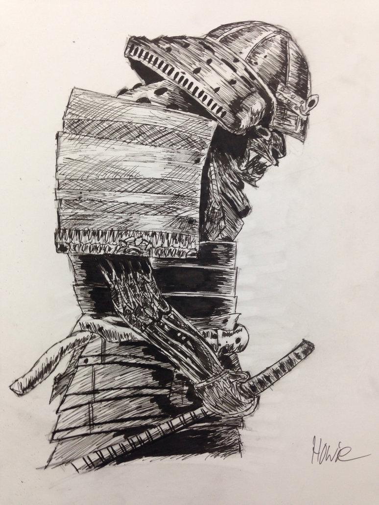 Drawn samurai samurai art Drawing Pen DeviantArt Devil Samurai