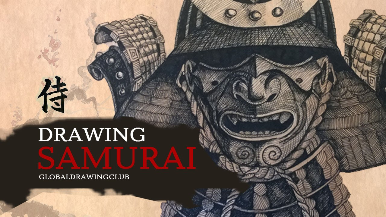 Drawn samurai samurai helmet Samurai YouTube Drawing samurai Drawing