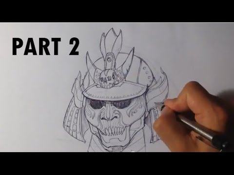 Drawn samurai samurai helmet 2/2 a a Part YouTube