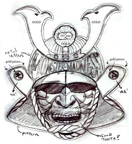 Drawn samurai samurai mask Japanese pic source Mask Drawing