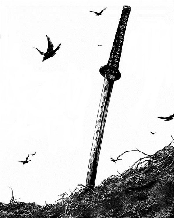 Drawn samurai samurai sword De Pinterest espada  ·