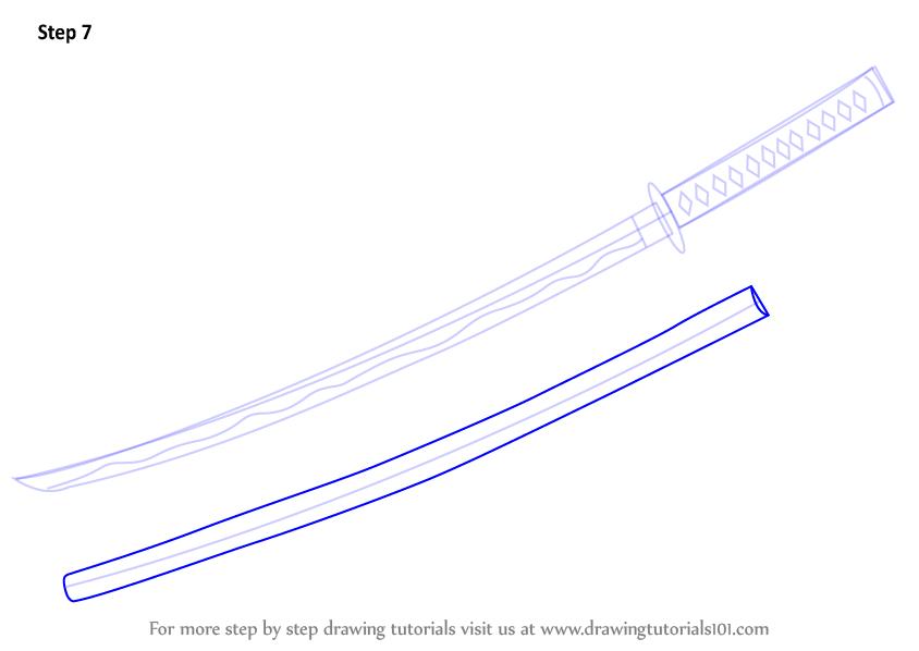Drawn samurai samurai sword Blade How Draw Learn a