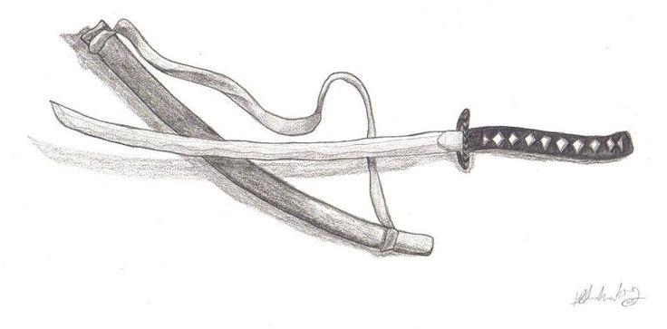 Drawn samurai samurai sword Pinterest Drawing sword sword pencils