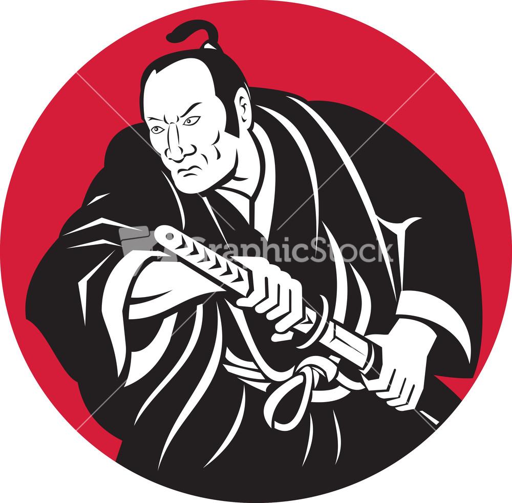 Drawn samurai samurai warrior Samurai Stock Warrior Drawing Sword