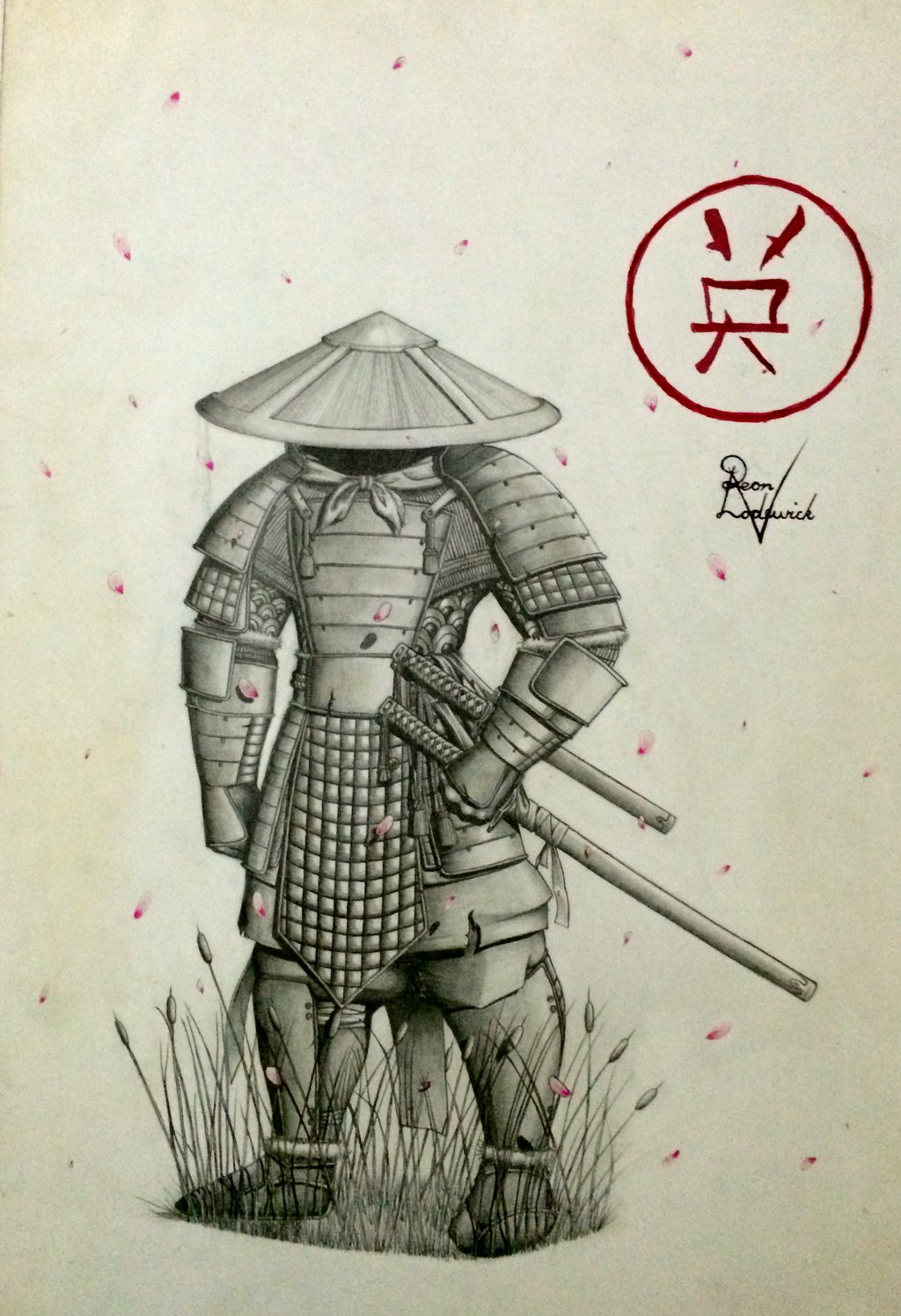 Drawn samurai samuri Pencil  Lodewick by Samurai