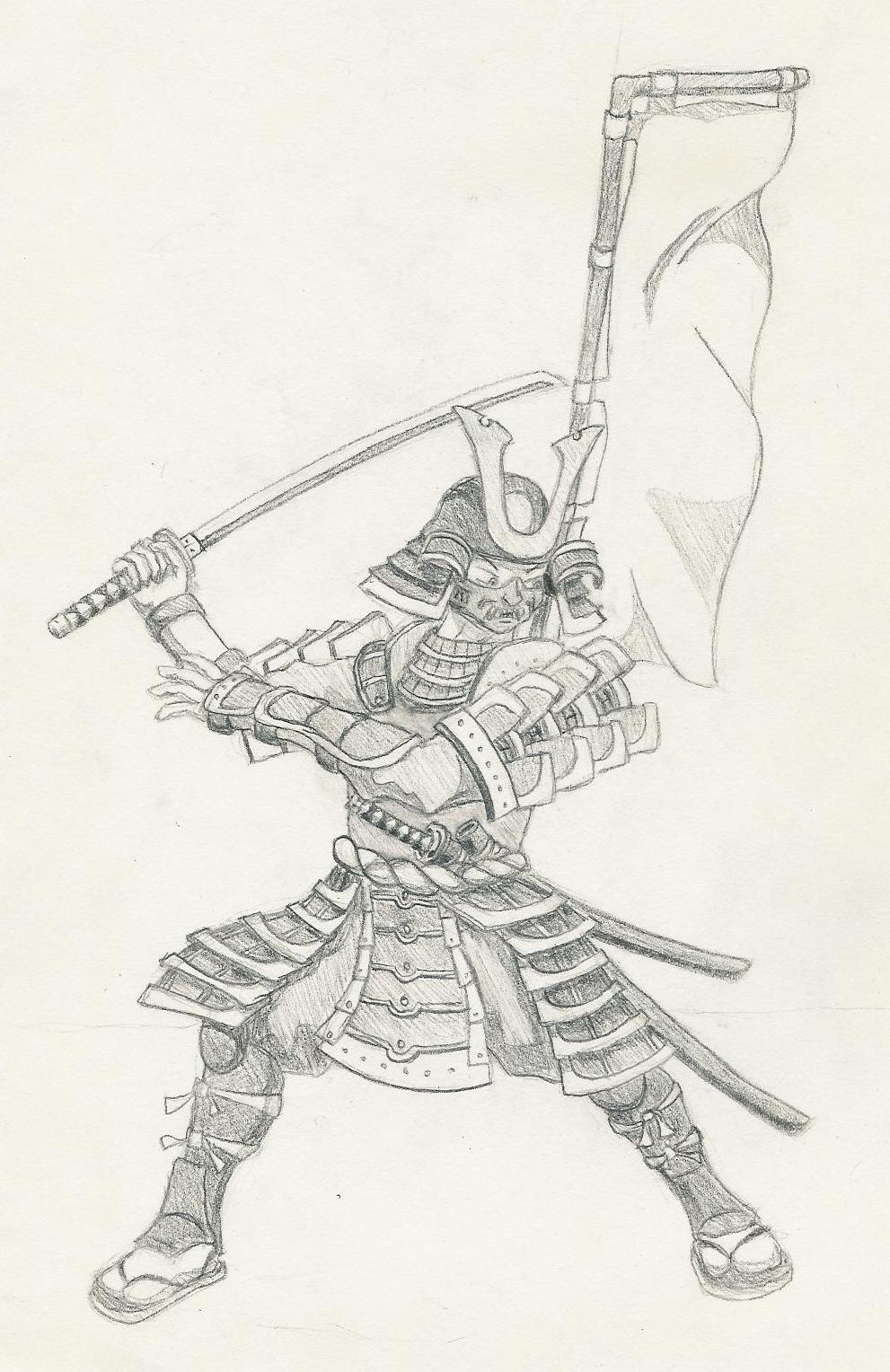 Drawn samurai samuri By Samurai Xhydralisk in Action