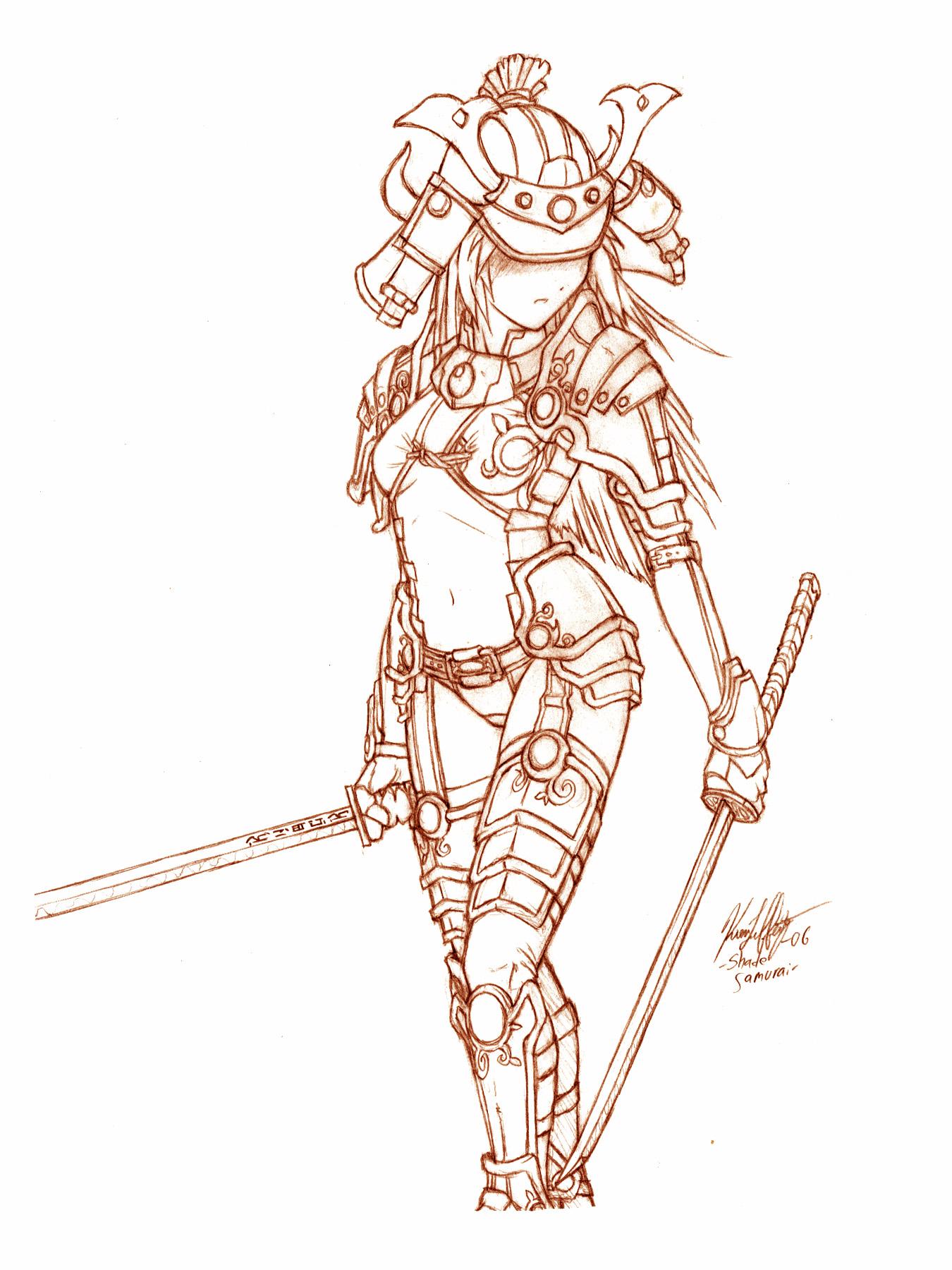Drawn samurai samuri By Shade KNKL Samurai conept