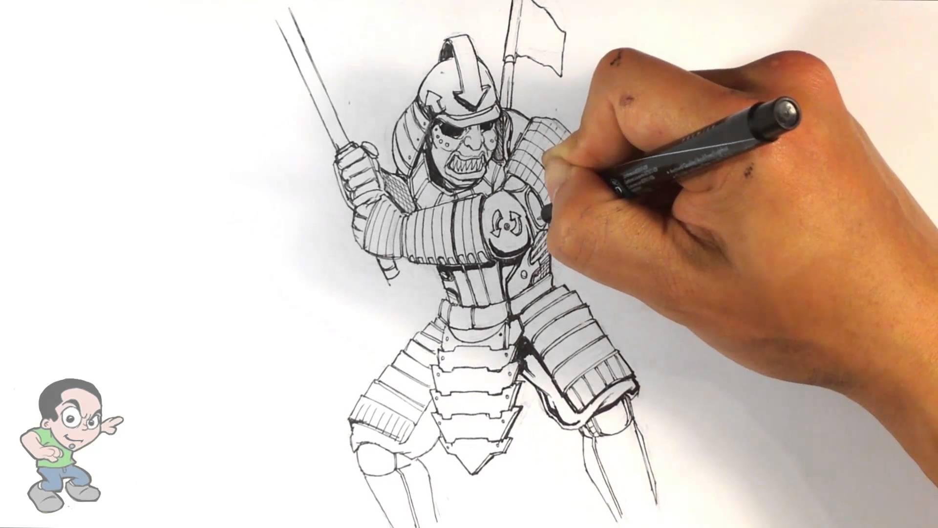 Drawn samurai samuri :  YouTube Easy Drawing