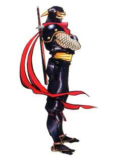 Drawn samurai shadow  character design Samurai Shodown